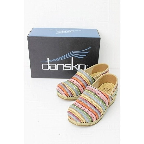 未使用 Dansko ダンスコ Jute Pro Stripe サンダル 36 / 靴 シューズ カラフル ジュートサンダル【2400010932991】