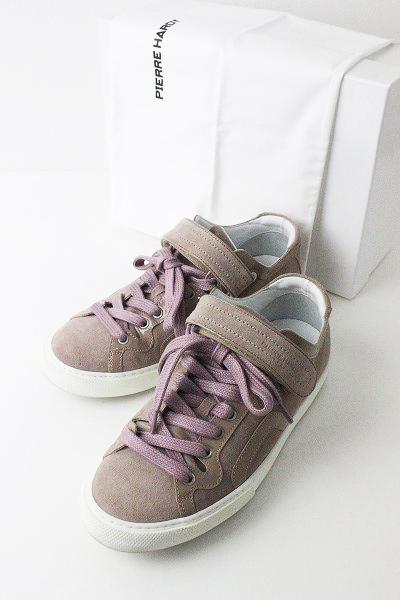 Pierre Hardy ピエールアルディ スウェット レザー ローカット スニーカー 38/ピンク シューズ 靴 【2400010966699】