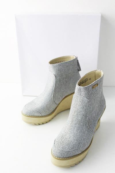 2018AW 秋冬 定価2.2万 mercibeaucoup メルシーボークー コブー ウエッジソール ブーツ 1/グレー【2400010980343】