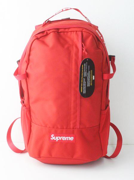 未使用 正規品 2018SS Supreme シュプリーム Cordura Ripstop Nylon Backpack / RED レッド ナイロン バックパック【2400010986833】