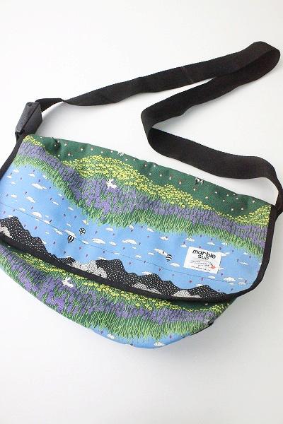 marble SUD マーブルシュッド BIEI プリント メッセンジャー バッグ/鞄 かばん ショルダー【2400011002839】