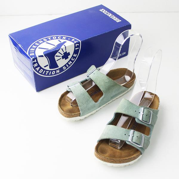 BIRKENSTOCK ビルケンシュトック アリゾナ スエード サンダル 22.5cm/ブルー シューズ 靴 フラット【2400011019592】