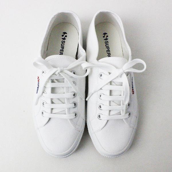新品 Superga スペルガ 2750 COTU CLASSIC WHITE スニーカー 37/白 靴 くつ シューズ【2400011020642】