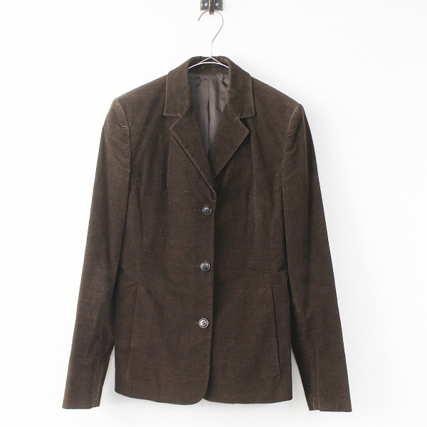 Le Verseau ルヴェルソー コーデュロイ 3B テーラード ジャケット40/ブラウン アウター 上着 羽織り【2400011022233】