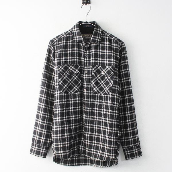 極美品 PENDLETON ペンドルトン OLIVER ラフンネルシャツ Thomas Kay Plaid XS/メンズ グレー チェック アウトドア【2400011040251】