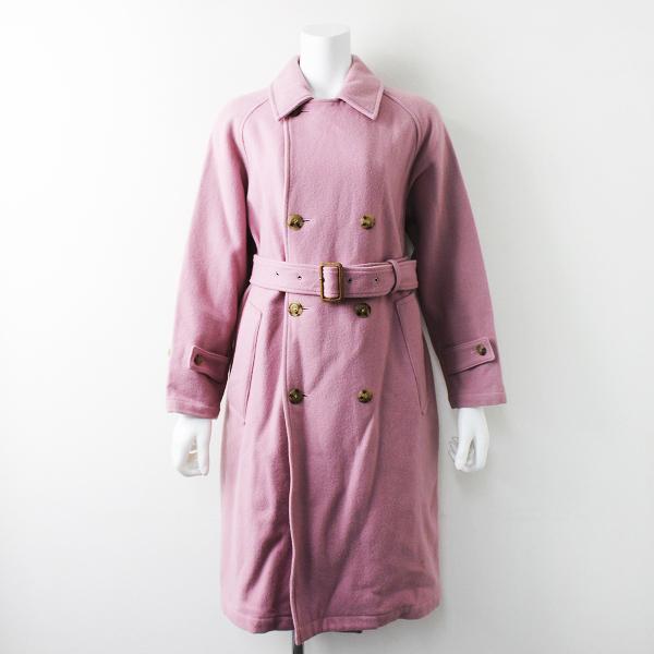 定価5.1万 Montgomery × Ron Herman モンゴメリー × ロンハーマン カラー トレンチコート/-ピンク アウター 上着【2400011067814】-.