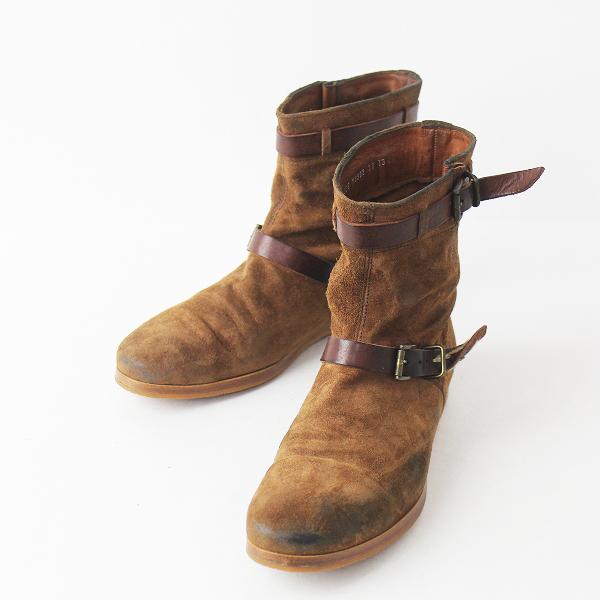 【オータムセール10%OFF!】MUKAVA ムカヴァ スエード ショート ブーツ 23 1/2/ブラウン 靴 くつ フラット【2400011069863】