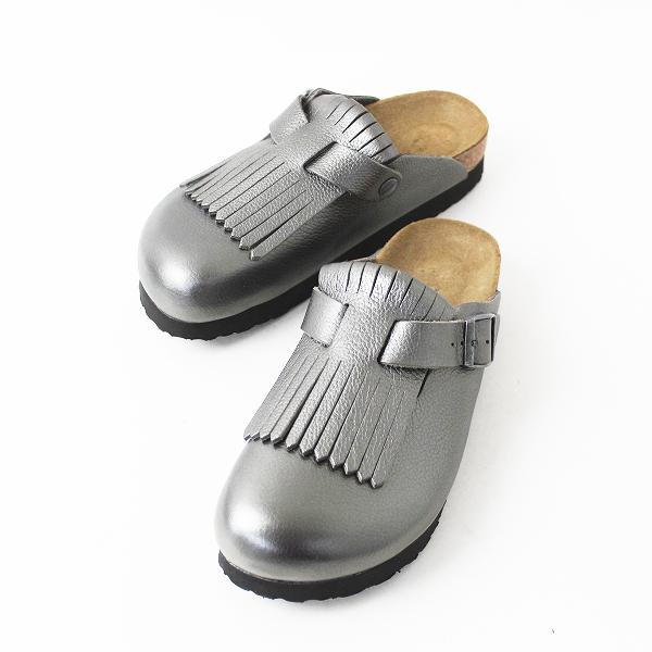 未使用品 BIRKENSTOCK ビルケンシュトック パピリオ2018FW BOSTON プラット フォーム フリンジ サンダル 38/靴 シューズ【2400011070074】