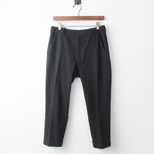 2018SS 春夏 定価2.8万 evam eva エヴァムエヴァ turn back pants ターン バック パンツ1/ブラック ジップフライ 【2400011079251】