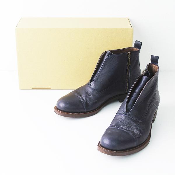 Pal'las Palace パラスパレス レザー ショート ブーツ 2/ネイビー 紺 クツ 靴 シューズ【2400011087294】