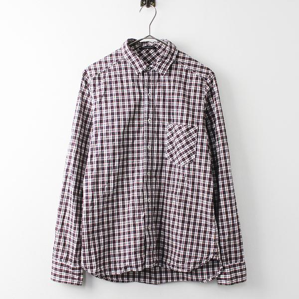 BARNYARDSTORM バンヤードストーム チェック 長袖 シャツ 1/ネイビー×レッド トップス 羽織り【2400011095381】