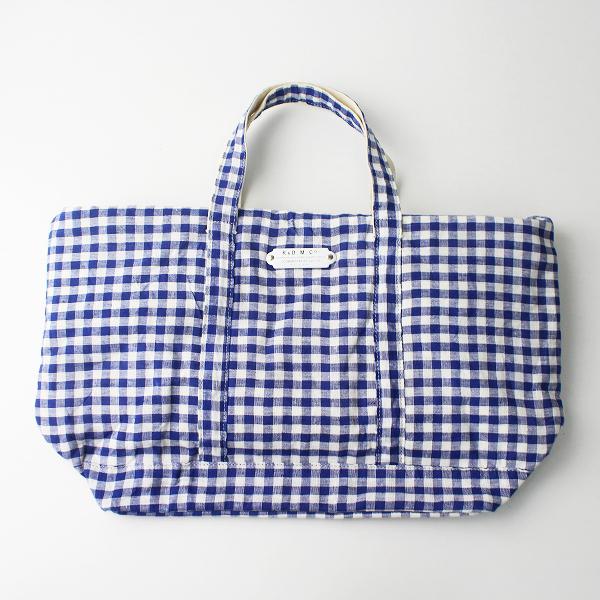 R&D.M.Co- オールドマンズテーラー ギンガムチェック トート バッグ/鞄 カバン ブルー【2400011102829】