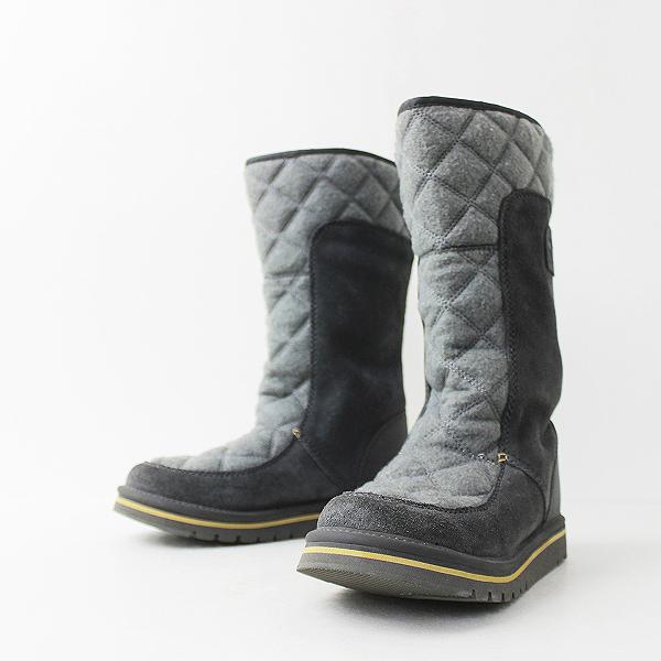 SOREL ソレル キルティング ロング ブーツ 39/グレー系 シューズ スノーブーツ 裏起毛 靴【2400011106162】