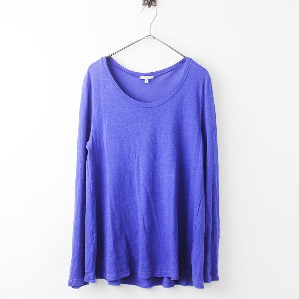 Clu クルー ヘンプ コットン ラウンドネック カットソー M/メンズ ブルー プルオーバー ロンT Tシャツ トップス【2400011109170】