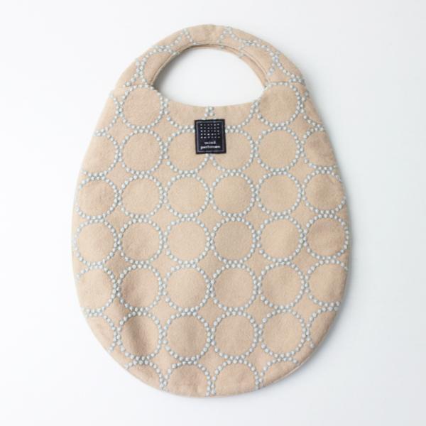 美品 mina perhonen ミナペルホネン tambourine egg bag/ピンク エッグ バッグ トート 鞄 【2400011110183】