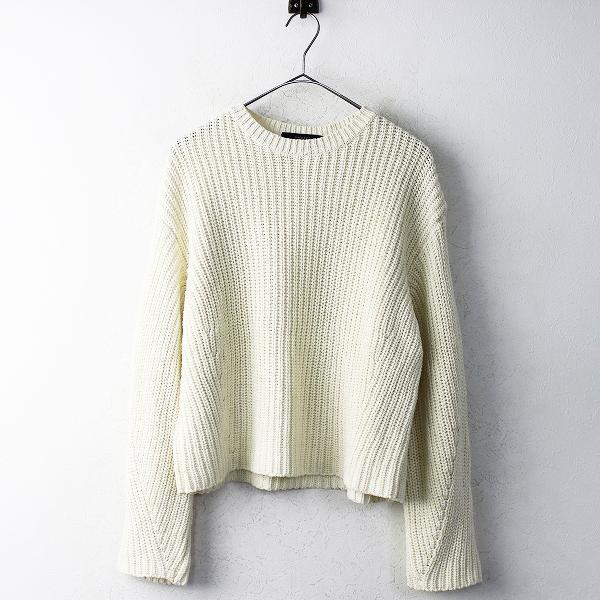 美品 定価3.4万 UNUSED アンユーズド コットン ニット セーター 1/ベージュ トップス セーター【2400011112378】