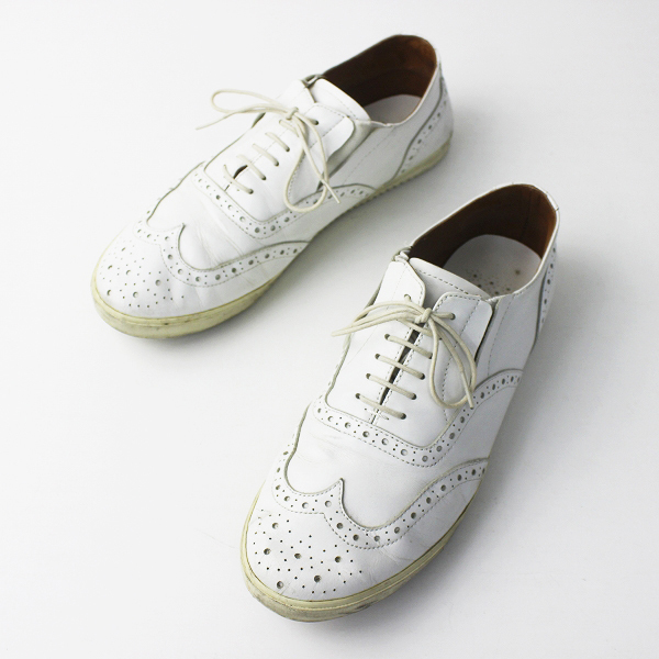 ses amis by chausser セザミ バイ ショセ メダリオン レースアップ シューズ 27.0/ホワイト 靴 レザー MENS メンズ 【2400011118011】