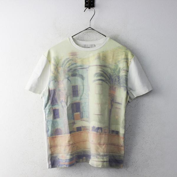 STUDIO NICHOLSON スタジオニコルソン TIAGO TEE プリント Tシャツ 1/オフホワイト トップス カットソー 半袖 ストレッチ 【2400011118219