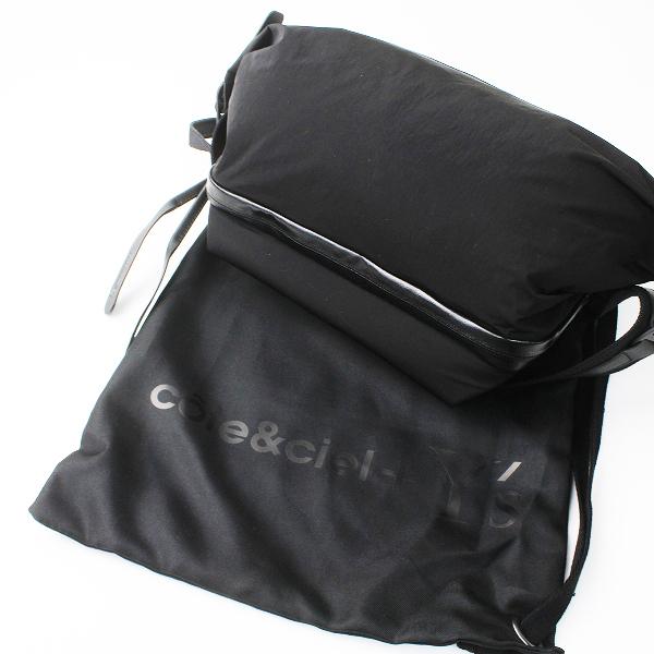 極美品 2018 定価4.1万 Y's x Cote&Cie ワイズ コートエシエル メッセンジャー バッグ イサラウ/ブラック 鞄 BAG 【2400011119094】-.