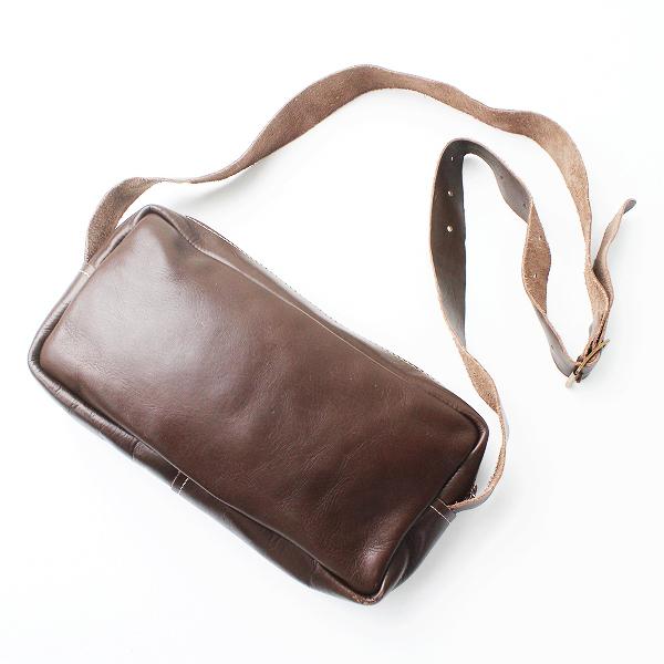 美品 希少 2017 Paul Harnden ポールハーデン Tool Bag レザー ショルダー バッグ/ブラウン 革 鞄 【2400011119131】