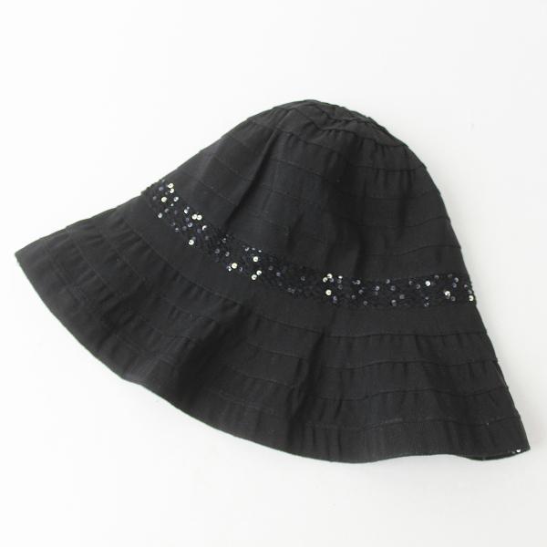 FERRUCCIO VECCHI フェリシオベッキ スパンコール ハット /ブラック 小物 帽子【2400011123534】