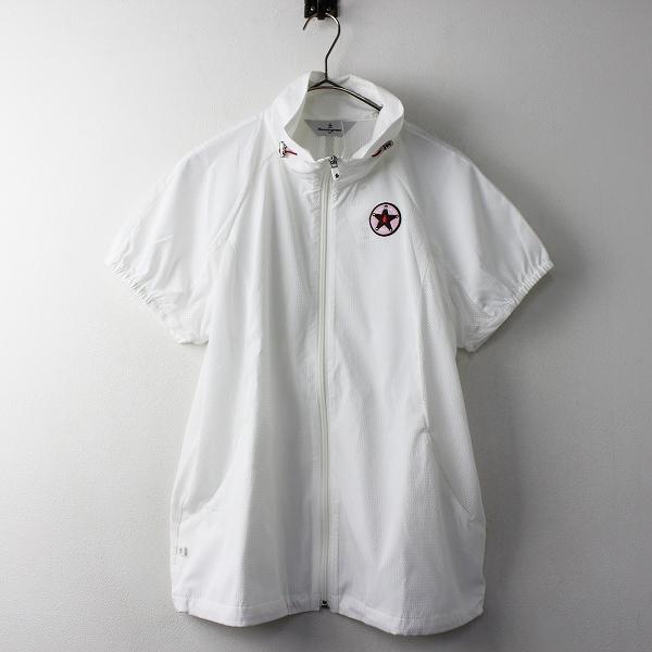 新品 大きいサイズ Munsingwear マンシングウェア メッシュ ストレッチ ジップアップ 半袖 ジャケット LL/ホワイト【2400011124685】