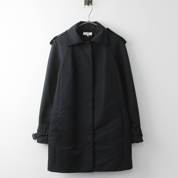 大きいサイズ TO BE CHIC トゥー ビー シック ナイロン シングル コート 40/ブラック アウター【2400011125033】