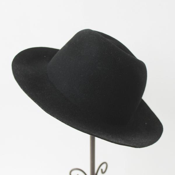 crushabie クラッシャブル フェルト ウール ハット M/ブラック 黒 クロ 小物 帽子 ぼうし 無地【2400011129420】
