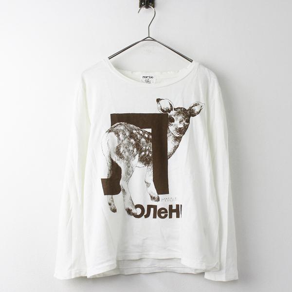 marble SUD マーブルシュッド バンビ プリント Tシャツ/ホワイト トップス カットソー【2400011136145】