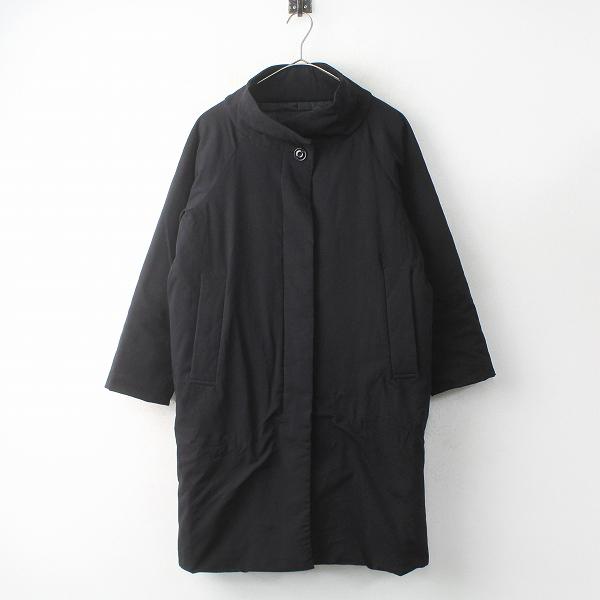2017 定価4.5万 SI-HIRAI スーヒライ ハイネック キルティング ロング コート 38/ブラック アウター 上着 羽織り 【2400011140883】