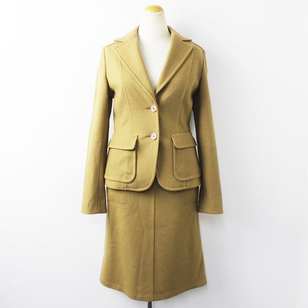 ICB アイシービー ウール カシミヤ スーツ セットアップ 9/ベージュ ジャケット スカート【2400011141385】