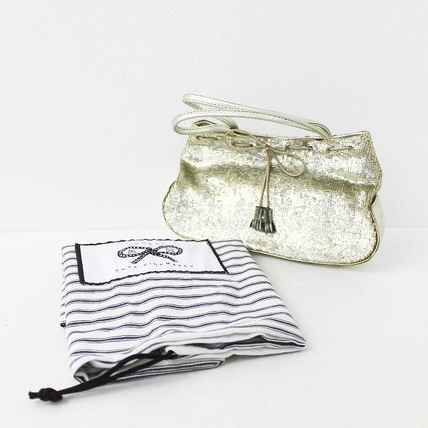 ANYA HINDMARCH アニヤハインドマーチ スパンコール ミニ バッグ/鞄 ゴールド【2400011146205】