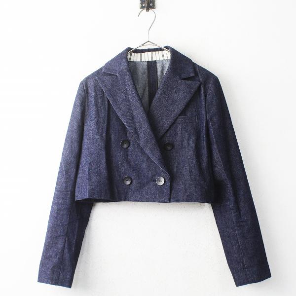 2018春夏 Lois CRAYON ロイスクレヨン デニム ショート ジャケット M/ネイビー 上着 羽織り【2400011152848】
