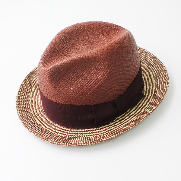 美品 COOTIE クーティー Panama Deerstalker Hat L/ブラウン 帽子 パナマ ハット メンズ 【2400011164797】