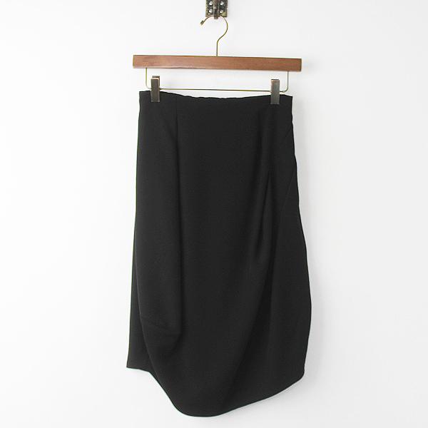 美品 ENFOLD エンフォルド コクーン スカート 36/ブラック ボトムス【2400011179456】
