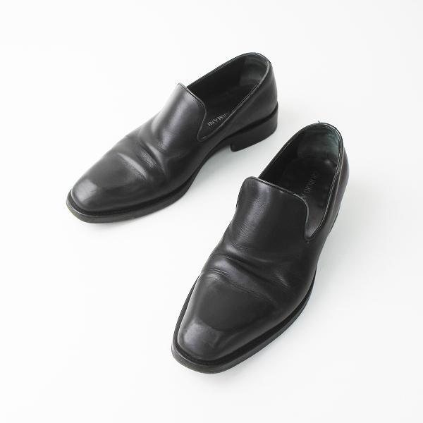 メンズ GIORGIO ARMANI ジョルジオアルマーニ レザー ローファー シューズ ビジネス 41///ブラック 靴 クツ MENS【2400011205018】