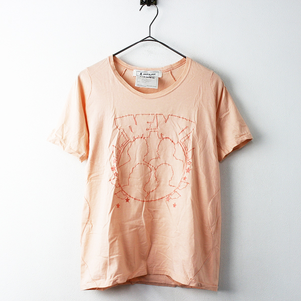 2012SS SHELL期 ANREALAGE アンリアレイジ Tシャツ 0/ピンク トップス カットソー【2400011216861】