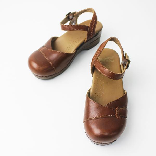 Dansko ダンスコ maeve メイヴ アンクルストラップ サンダル 37/靴 ブラウン くつ クツ シューズ ステッチ【2400011222527】