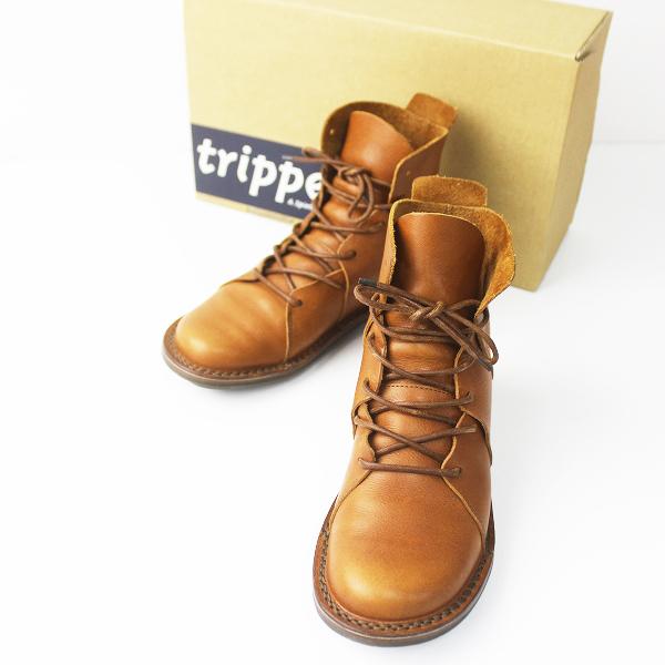 trippen トリッペン NOMAD レースアップ ブーツ 36/ノマド キャメル シューズ フラット クツ【2400011253699】