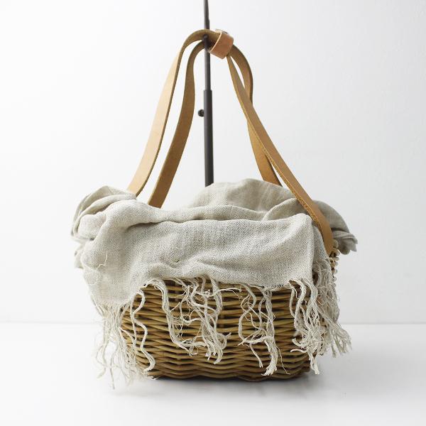 ebagos エバゴス ブライドルレザー×紅籐 かご バッグ/バスケット bag カゴ カバン 手提げ【2400011255044】
