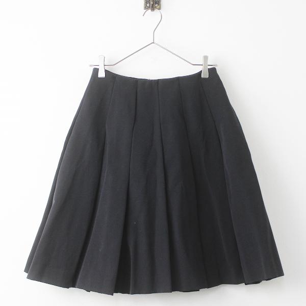 ENFOLD エンフォルド プリーツ スカート 36/ブラック 黒 クロ ボトムス 無地 ひざ丈【2400011255570】