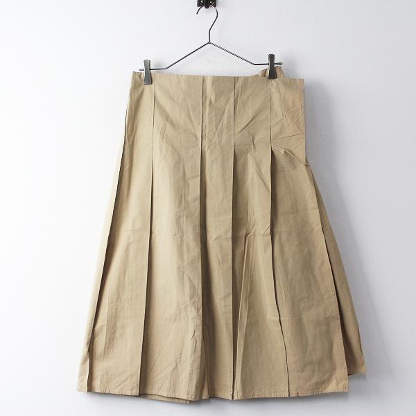 Y's Yohji Yamamoto ワイズ ヨウジヤマモト コットン タック ロング スカート 3/ベージュ ボトムス【2400011267436】