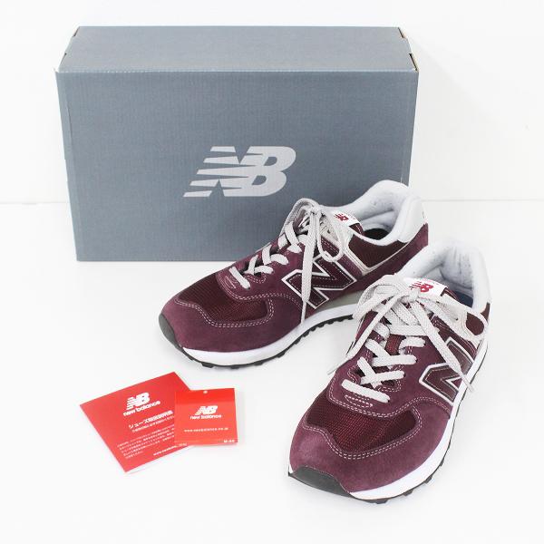 New Balance ニューバランス ML574EGB スニーカー 26.0/メンズ バーガンディー シューズ 靴【2400011282095】