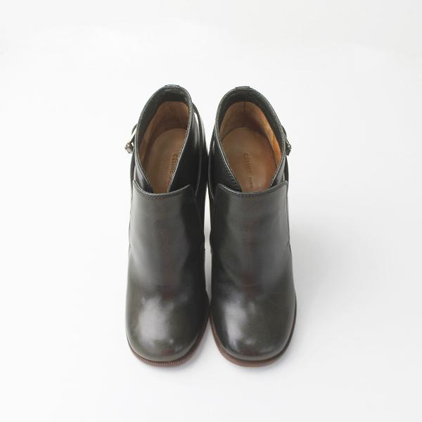 CELINE セリーヌ ベルト デザイン レザー ショート ブーツ 37///ブラック 黒 クロ シューズ 靴 クツ【2400011284679】