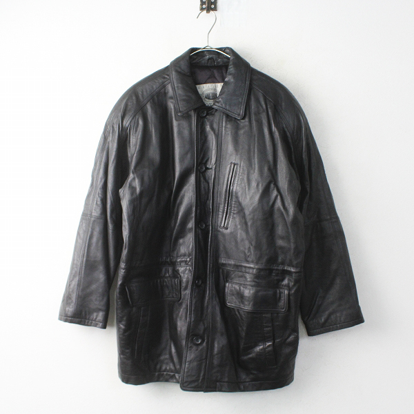 HARAJUKU MOTHER 原宿マザー レザー ロング コート M///ブラック メンズ アウター 上着 ブルゾン【2400011290366】