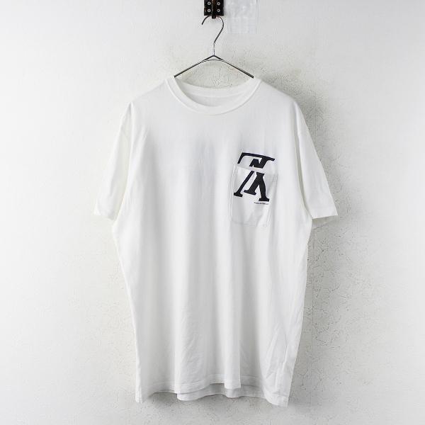 人気 2018SS LOUIS VUITTON ルイ ヴィトン アップサイドダウン ロゴTシャツ M /// ホワイト バックプリント フォーバー【2400011292056】