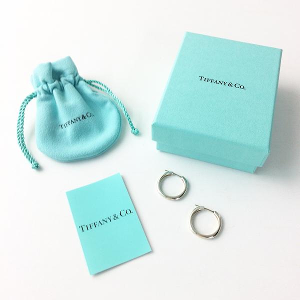 美品 Tiffany&Co. ティファニーアンドコー シルバー フープ ピアス/アクセサリー イヤリング 小物【2400011296528】