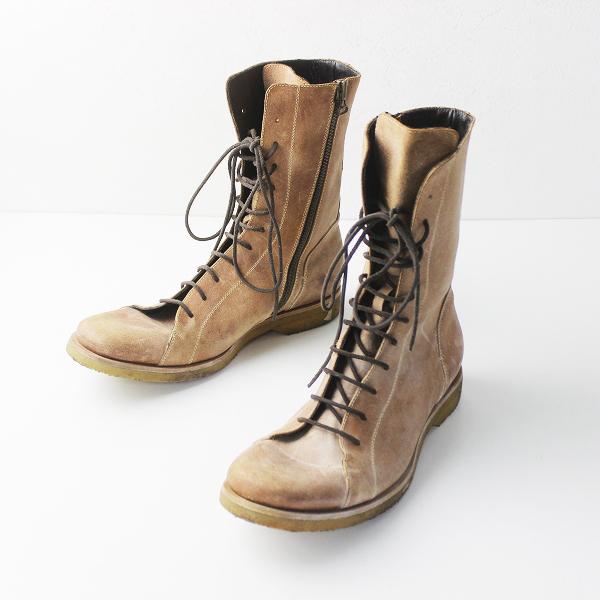 BUTTERO ブッテロ レザー ペコスブーツ 43///メンズ ベージュ シューズ 靴【2400011296931】