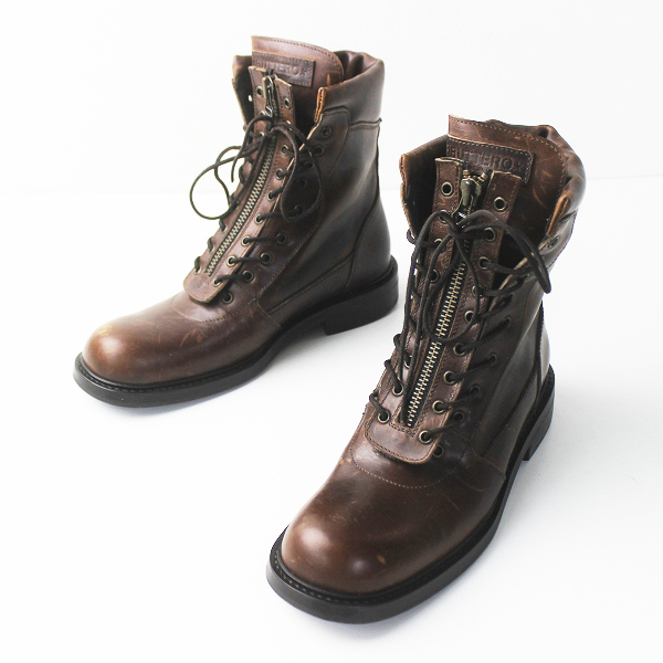 BUTTERO ブッテロ レザー ファイヤーマンブーツ 41///ブラウン シューズ 靴 メンズ【2400011296948】