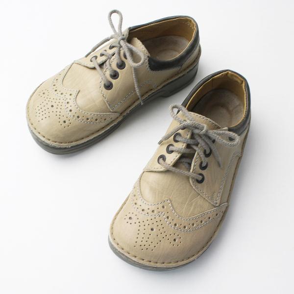 BIRKENSTOCK Footprints ビルケンシュトック フットプリンツ ウイングチップ レザー シューズ 37/ベージュ 靴【2400011302854】